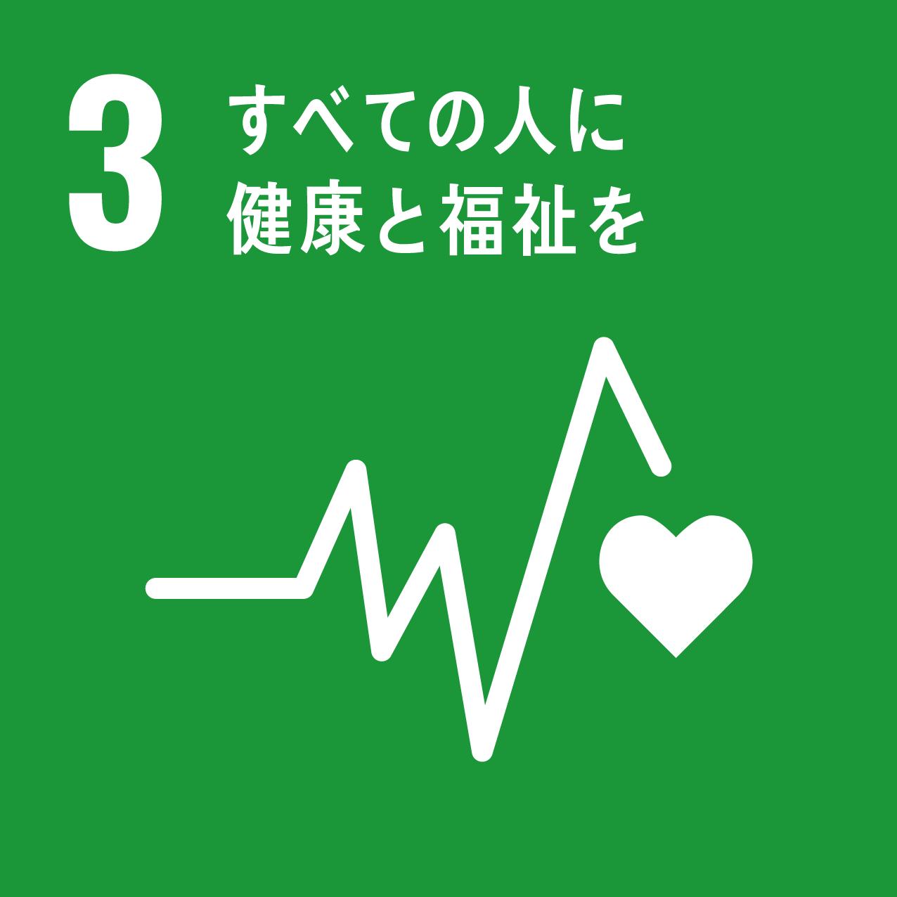 3 「すべての人に健康と福祉を」のロゴ画像